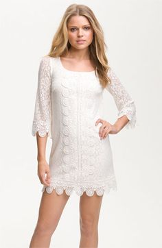 Laundry by Shelli Segal Lace Overlay Shift Dress | Nordstrom