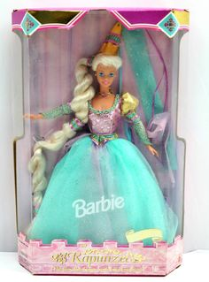 Barbie Rapunzel Childrens Collector Series 1994 Doll Blonde Fairytale Princess