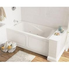 American Standard Everclean Integral Apron 5 ft. Left Drain Whirlpool Tub in White-2425LC-LHO.020 at The Home Depot