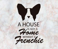 French Bulldog and marbled design Art Print