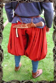 """Påsbyxor aka """"viking rus pants"""" with wrap on calf"""