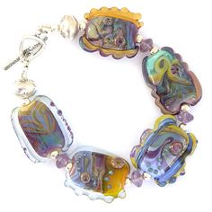 Lost and Found Bracelet 3  Handmade Lampwork by sarahhornikjewelry, $160.00
