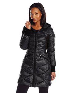 Bernardo Women's Packable Down Water Repellent Coat with ...