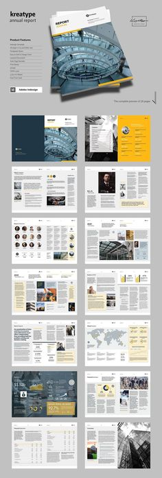 Annual Report Brochures Templates - AI, PSD, Docs, Pages Annual Report Template Annual Report Layout, Annual Report Covers, Annual Reports, Magazine Architecture, Diary Cover Design, Report Design Template, Ui Design Mobile, Graphic Design Brochure, Graphic Art