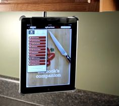 Charmant Ipad Holder That Mounts To Cabinets