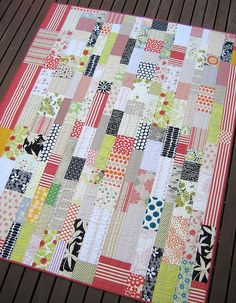 Just Bricks Quilt  ...thinking about a pink quilt for the girl child...