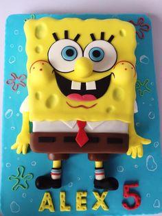 Sponge bob torta, Autorka: Layla A Spongebob Birthday Party, 7th Birthday, Bob Sponge, Sponge Bob Cupcakes, Piggy Cake, Cakes For Boys, Themed Cakes, Party Cakes, Biscuit