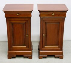 Pair of Grange Fruitwood Side tables. Made in France. Pre-Sale Estimate $250-$350