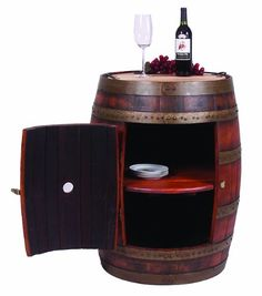 End table made from a wine barrel...
