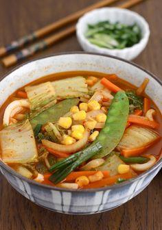Korean-Chinese Spicy Veggie Noodle Soup (Vegetarian version of Jjambbong) - Season with Spice - Blog