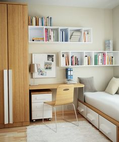 I like these shelves for the master bedroom and the girls' rooms