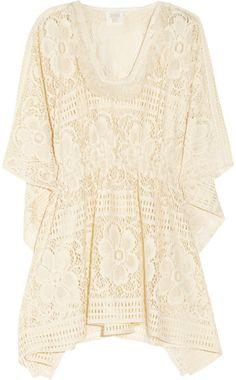 Floral Crochet Tunic - Lyst