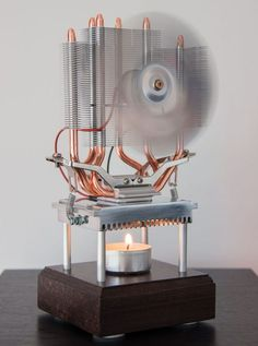 Thermoelectric Fan Powered by a Candle Better writeup than many. Looks good due to heatsink used. A Thermoelectric generator powered by a tealight. It started as an experiment of how much power I could get from one candle. But I liked the idea and it work