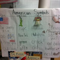 American symbol tree map kindergarten
