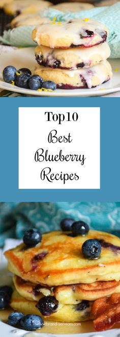 Top 10 Best Blueberry Recipes all of my favorites! Cookies, muffins, pancakes, beverages and even a quesadilla! (Yes!) The best recipes on my blog with my favorite fruit, the blueberry!