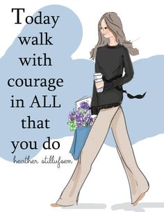 Art for Women room   Walk with Courage by RoseHillDesignStudio