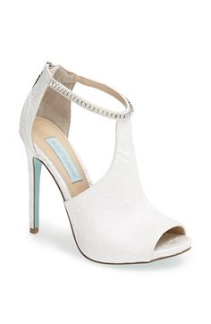 Betsey Johnson 'Date' Cutout Peep Toe Bootie available at #Nordstrom