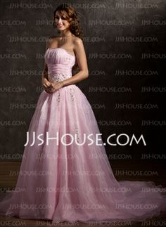 Ball-Gown Sweetheart Chapel Train Organza Wedding Dress With Ruffle Lace Beadwork Sequins (002011739)