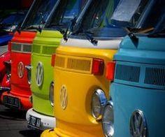 Four VW Busses