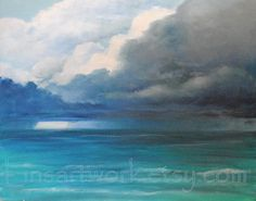 Original Painting 16 x 20  Thunderstorm  Oil on by Linsartwork, $400.00