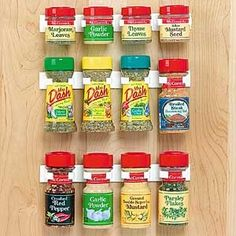 Spice Clips-Organizing tip- if you have a very small kitchen and you are looking for ways to save space and get the most use out of what you have, check out tools used to organize RV's.  Tons of other tips from my newsletter www.organizingis.com