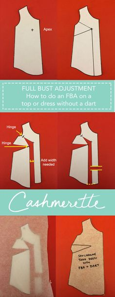 How to do a Full Bust Adjustment on a non-darted top or dress - voor de Donna blouse van La Maison Victor! Sewing Class, Sewing Tools, Sewing Hacks, Sewing Tutorials, Sewing Projects, Techniques Couture, Sewing Techniques, Pattern Cutting, Pattern Making