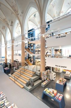 Medieval cathedral converted into a book shop