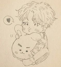 Jimin Fanart, Kpop Fanart, Bts Chibi, Anime Chibi, Kpop Drawings, Dibujos Cute, Korean Art, Sketch Inspiration, Art Sketchbook