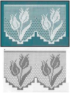 Resultado de imagem para filet crochet edging
