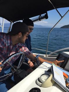 """From Misha's Twitter: """"Me and my Deck Swab. (or as he likes to be called: Cabin Boy)"""""""