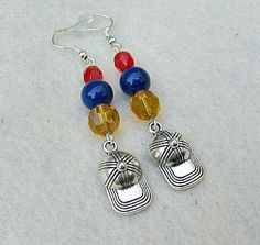 Softball Cap Earrings Baseball Jewelry Baseball Earrings