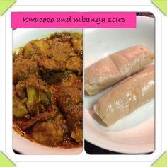 Kea coco and mbanga soup