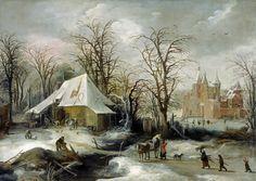 Joos de Momper II – North Carolina Museum of Art. Title: Winter Landscape. Date: c. 1625-1630