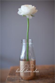 gold bridal shower ideas