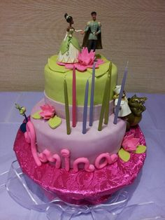 Princess and the frog cake for Amina