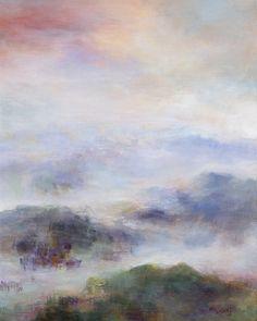 "Saatchi Art Artist: Rikka Ayasaki; Acrylic 2013 Painting ""Spring haze 7030 (55x46cm Painted in 2013)"""