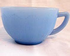 vintage delphite blue pyrex teacup