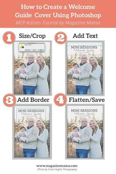 How to Create a Welcome Guide Template Using Photoshop