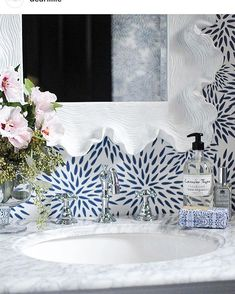 Head over to Dear Lillie for an amazing powder room makeover using our Mums the … Head over to Dear … Words Wallpaper, Of Wallpaper, Peel And Stick Wallpaper, Painted Wallpaper, Modern Powder Rooms, Small Powder Rooms, Coastal Powder Room, Blue Powder Rooms, Powder Room Wallpaper