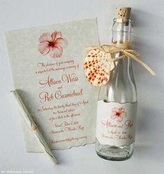 Invitación boda botella