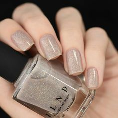 holiday Nails neutral - Manor House - Taupe Holographic Sheer Jelly Nail Polish by ILNP Wedding Manicure, Wedding Nails For Bride, Bride Nails, Mauve Wedding, Bling Wedding, Burgundy Wedding, Purple Wedding, Wedding Bridesmaids, French Nails