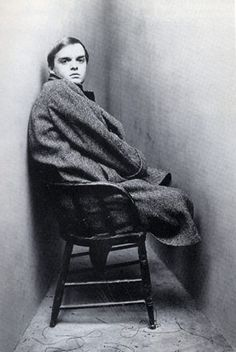 Irving Penn - Corner portrait, Truman Capote, Version B, March for Vogue Magazine. Copyright Conde Nast Publications, INC. Irving Penn Portrait, Eyebrow Game, Becoming A Writer, Writers And Poets, Book Writer, Portraits, Vogue Magazine, Vintage Photos, At Least