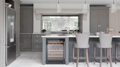 The White House, Beaconsfield - Humphrey Munson Kitchens Open Plan Kitchen Living Room, Home Decor Kitchen, Interior Design Kitchen, New Kitchen, Kitchen Ideas, House Extension Design, Extension Ideas, Contemporary Open Plan Kitchens, 1930s House Renovation