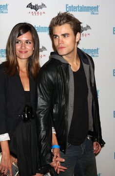 Torrey DeVitto and Paul Wesley.