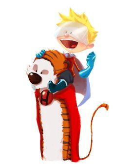 Hero-Hobbes and the Calvin-Kid by *Andry-Shango on deviantART