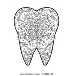 stock-vector-vector-illustration-of-a-tooth-with-an-abstract-pattern-mandala-558150463.jpg (450×470)
