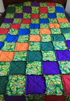 Teenage Mutant Ninja Turtle quilt block | quilt blocks | Pinterest ... : turtle rag quilt - Adamdwight.com