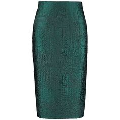 By Sun - High Waist Peacock Green Pencil Skirt ($185) ❤ liked on Polyvore featuring skirts, high-waist skirt, peacock feather skirt, high waisted pencil skirt, high-waisted pencil skirts and pencil skirt
