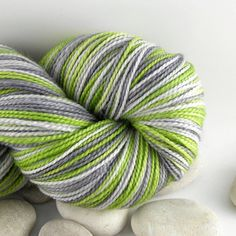 Self-Striping Knitting Yarn Hand Dyed Superwash Merino Wool - Sock Yarn, 430 yds - Mod. $26.00, via Etsy.