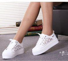 los angeles 8dbb3 eb7ba Mujeres comodidad transpirable Tenis Zapatos De Lona Floral Hueco  Plataforma Tenis